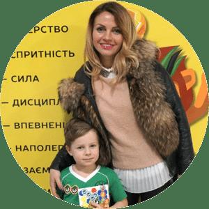 Син Лук'ян 6,5 років та мама Ольга.