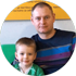 Тимофій 5 років й тато Юрій